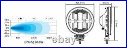 12v/24v 9 Round Cree LED Fog Spot Lights Lamp DRL / Park Light Dual Function CE