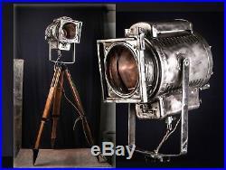 1975 Loft Tripod Steh Stativ Lampe Kino Scheinwerfer Industrie Vintage Strahler