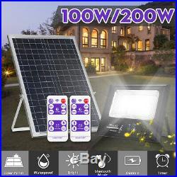 200W 192 LED Bright Solar Power Flood Light Spotlight Outdoor Wall Street Lamp