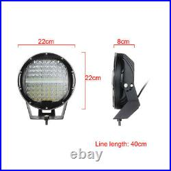 2Pcs 9 Inch 640W Round Work Light LED Spotlight Flood Offroad Fog Driving Lamp