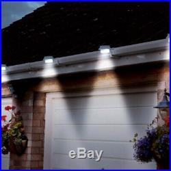 2/4/6 Solar Power LED Gutter Spot Light Outdoor Garden Fence Shed Wall Roof Lamp