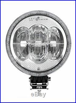 2x 12/ 24v 9 Round Cree LED Spot Lights Lamp DRL / Park Light Dual Function CE