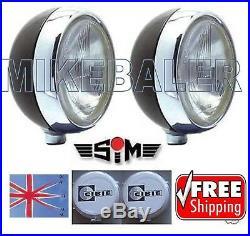 2x 7 SIM DRIVING SPOT LAMPS LIGHTS H4 MAIN/DIP +CIBIE OSCAR COVERS SPOTLIGHT