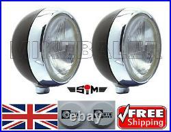 2x 7 SIM SPOT LAMPS LIGHTS WITH CIBIE OSCAR IODE COVERS SPOTLIGHT + FREE BULBS