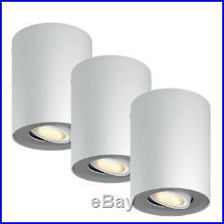 3x PHILIPS hue Ambiance LED Aufbau Spot Strahler Leuchte dimmbar Erweiterung Set
