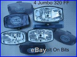 4 24v HELLA Jumbo 320 FF Spot light/lamps COVERS Kelsa/BAR/Scania/Volvo/MAN/DAF