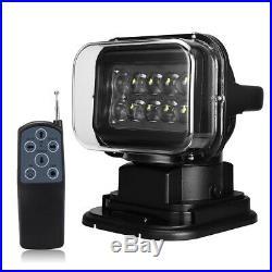50W 12V LED Remote Control Searchlight Marine Boat Car Truck Spotlight Lamp Sale