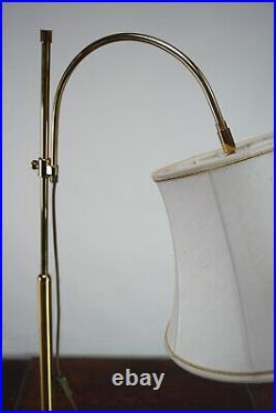 60er Vintage Stehlampe Leselampe Spot Leuchte Lampe Strahler Messing 70er