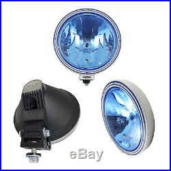 6x 12v / 24v 9 Inch Round Blue Lens Fog Spot Lights Lamps Truck Lorry Cab 4x4
