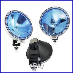 6x 12v / 24v 9 Inch Round Blue Lens Narrow Pencil Beam Fog Spot Lights Lamps