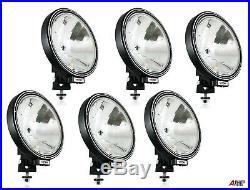 6x 12v/24v 9 Round Fog Spotlights Spot Lights Lamps Cab Top Bar Truck Lorry