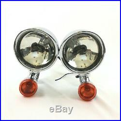 97-13 OEM Genuine CVO Harley Auxiliary Left/Right Pair Passing Spot Lights Lamps