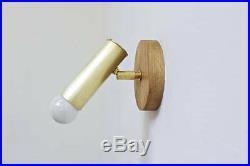 Adjustable lamp, brass wall light, spotlight, mid century lighting, night light