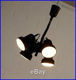 Alte 4fach Ufo Decken Pendelleuchte Zuglampe Hängelampe Spot Vintage 60er Jahre