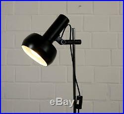 Alte Metall Chrom Schreibtisch Stab Leuchte Tischlampe Spot Vintage 70er Jahre