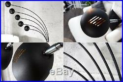 Bogenlampe schwarz gold Stehlampe Stehleuchte 205cm Design Spot Lampe 5 arm