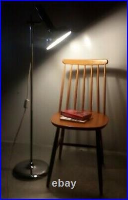 Chrom Stab Leuchte Stehleuchte Spot Steh Lampe Leselampe Strahler 60er 70er