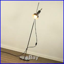 Chrom Steh Leuchte Strahler Spot alte Boden Lampe Vintage Floor Lamp 70er Jahre