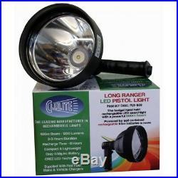 Cluson PLR-500 Long Ranger Rechargeable LED Pistol Light Lamp Plus Free Gift