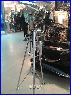 Collectible Steel Searchlight with steel tripod Stand stand full metal light