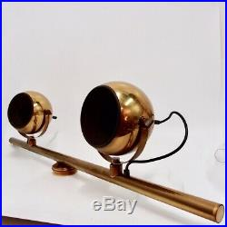 Deckenlampe Spot-Leiste 60er Messing Lichtleiste Strahler Spot Leuchte Vintage