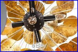 Design Hängelampe Pendellampe Kugellampe SPOTS 70cm schwarz/gold Retro Lounge