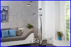 Design Stehlampe Stehleuchte chrom Marmor 200cm Bogenlampe Spot Lampe NEU