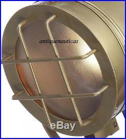 Designer Marine Floor Lamp Spotlight Nautical Studio Tripod Floor Search Light