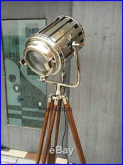 Designer Marine Tripod Floor Lamp, Studio Spotlight Tripod Floor Lamps