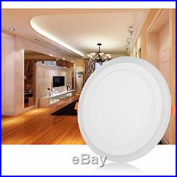 Dual Color White RGB LED Ceiling Light Fans Recessed Panel Downlight Spot Lamp