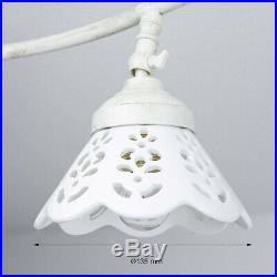 Elegante Deckenleuchte Im Shabby Chic Landhausstil 3fl Strahler Spot Deckenlampe