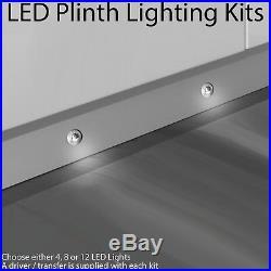 Eyelid LED Plinth Light Kit Round Spotlight Kitchen/Bathroom Floor Kick Panel