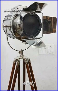 Floor Lamp Searchlight Photographer's Spot Light Nautical Tripod Home Decor Lamp