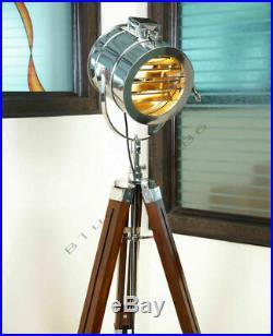 Floor Lamp Tripod Nautical Designer Studio Searchlight Home Decor Spot Light