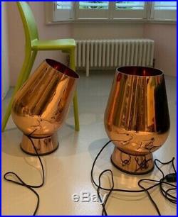 Genuine PAIR of Tom Dixon Fat Copper Spot FLOOR LAMP