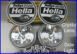 HELLA Rallye 3000 Spot light/lamps Crystal lens sidelight COVERS Defender/Hilux