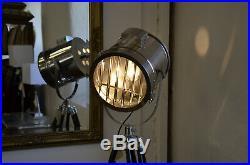 HOLLYWOOD Floor Lamp Tripod Spotlight Glamorous Chrome Lighting Brand New