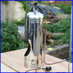 Industrial Lamp Large & Unique Stainless Art Deco Fire Extinguisher Steampunk