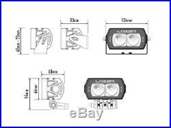 LAZER Lamps ST2 EVOLUTION HYBRID BEAM LED SPOT LIGHT 2068 Lm 23 Watts 9-32V