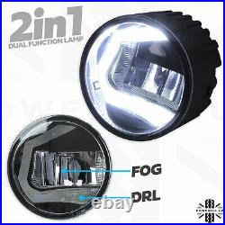 LED DRL Fog Lamps light for Discovery 3 LR3 front bumper 2in1 kit front spot