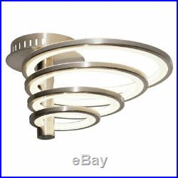 LED Decken Lampe Wohn Zimmer Spot Beleuchtung Ring Leuchte silber Strahler