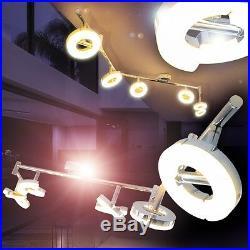 LED Deckenspot Design Deckenleuchte Deckenlampe Wohnzimmer einzeln kippbar 6er