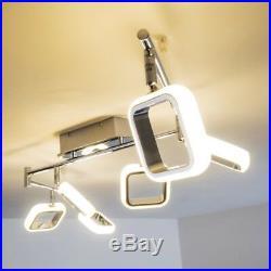 LED Deckenspot Design Deckenstrahler Deckenlampe Chrom Deckenleuchte Wohnzimmer