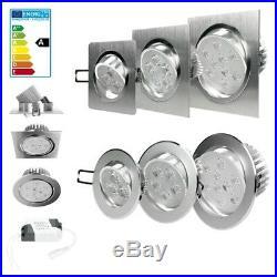 LED Einbaustrahler Einbau Strahler Deckenleuchte Spot Lampe Dimmbar mit Trafo