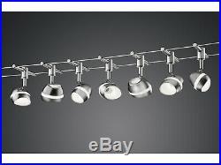 LED Schienensystem SHARK mit 7 Spots, Deckenlampe Seilsystem Bürobeleuchtung