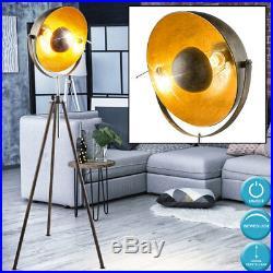 LED Spot Steh Lampe verstellbar RGB Dimmer Fernbedienung Stand Leuchte gold rost