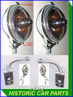 LH & RH SPOTLIGHT KIT for MGA 1500 1600 1955-62 as SLR576 Lucas Lamps & Brkts