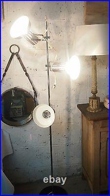 Lamp Floor Chrome Adjustable Mid Century Disderot French Spotlight Articulated