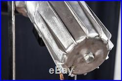 Loft Tripod Steh Stativ Lampe Such Scheinwerfer Industrie Strahler ALU SPOT