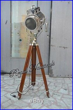 Marine Designer Spotlight Search Light Decorative Floor Lamp Chrome & Polish